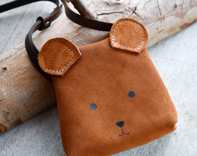 "Mini Messenger toddler purse bag, ""ANIMAL PACK - BEAR"" mini purse, messenger, toddler purse, toddler bag"