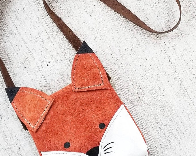 "Mini Messenger toddler purse bag, ""ANIMAL PACK - FOX"" mini purse, messenger, toddler purse, toddler bag"