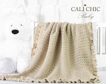 1aca3c718fd06 Crochet Baby PATTERN Baby Blanket Crochet Pattern Freesia | Etsy