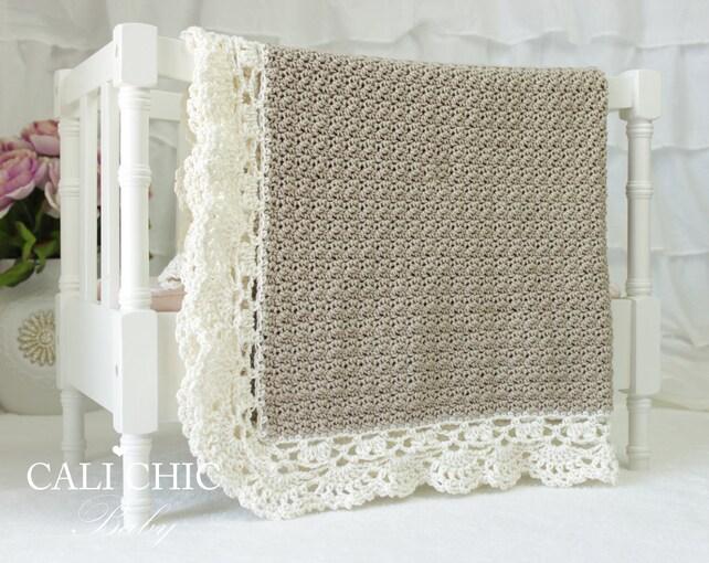 Crochet Baby Blanket Pattern 144 Claire Elegant Crochet Etsy