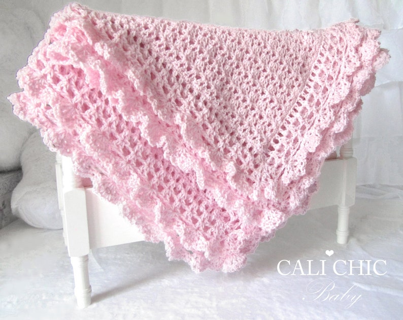 Crochet Baby Blanket Pattern 89 Crochet Pattern Victorian Etsy