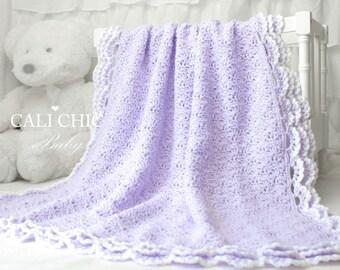 Crochet PATTERN 100 - Iris- Baby Blanket PATTERN 100 - Crochet Blanket Pattern - Instant Download