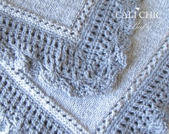 Knitting Pattern - Knit Baby Blanket PATTERN 71 - Royal - Instant Download PDF Pattern