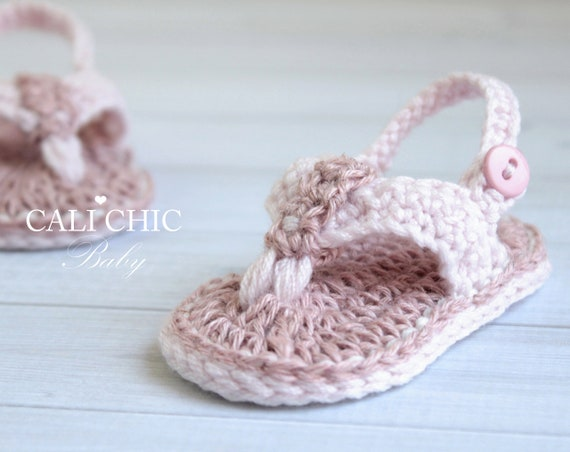 Crochet Baby Sandals PATTERN 60 Malibu Baby Flip Flops Etsy Interesting Crochet Baby Sandals Pattern