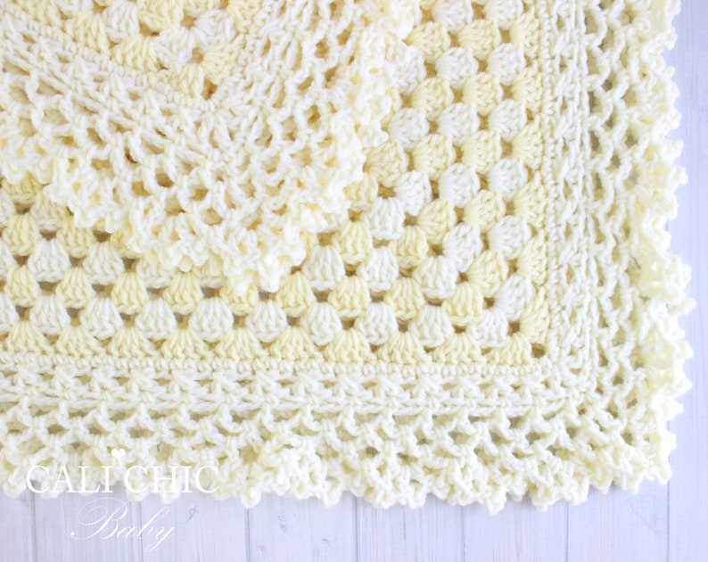 bcaff6bcd3d89 Crochet Baby Blanket PATTERN Freesia 143, Baby Afghan Pattern, Granny  Square Baby Pattern, DIY Baby Blanket Pattern Instant Download PDF