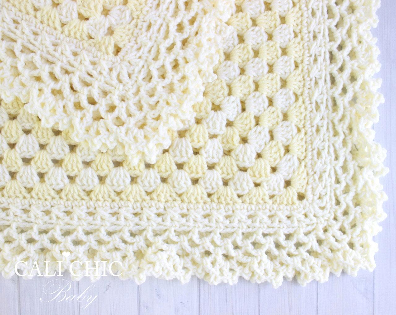 Crochet Baby Blanket PATTERN Freesia 143 Baby Afghan Pattern | Etsy