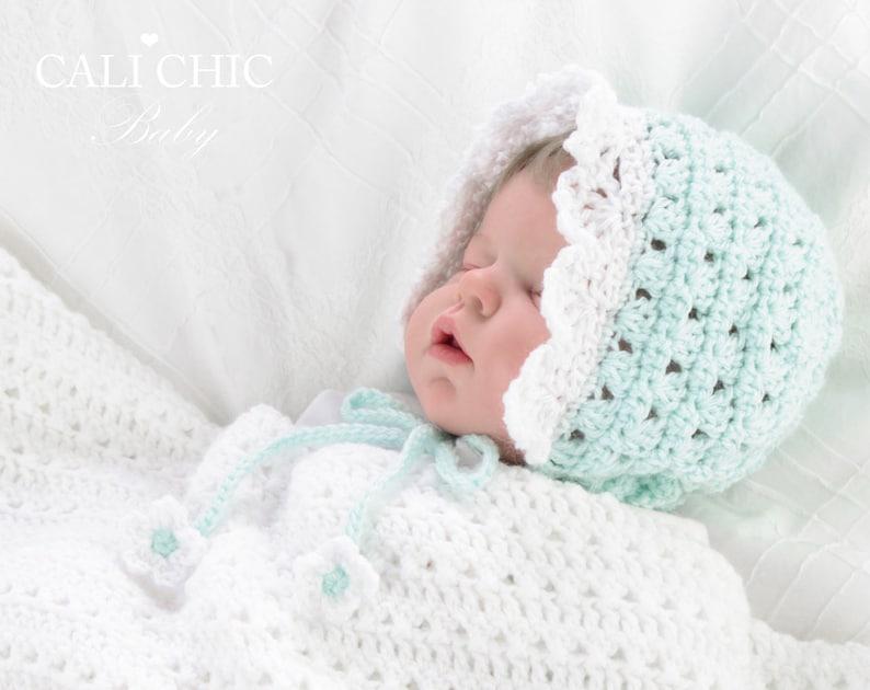Baby Bonnet Pattern 441 Angel Crochet Bonnet Pattern Crochet  06ca4517667