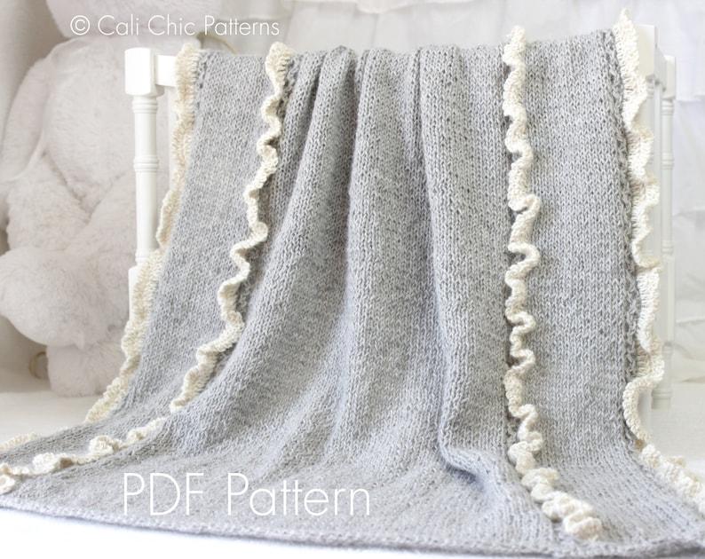 Knit Baby Blanket Pattern 31 Camille Knitting Pattern Etsy