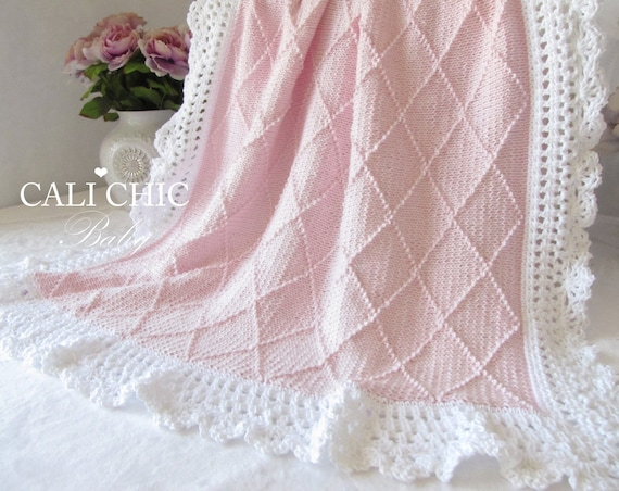 Knit Baby Blanket Pattern Knitting Pattern Paris 63 Knitting Etsy
