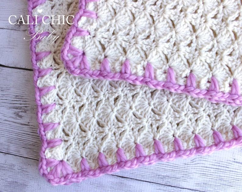 c6999ce26166b Crochet Baby Blanket PATTERN 16 - Cupcake- Crochet Blanket PATTERN 16 -  Pink Cream - Instant Download PDF