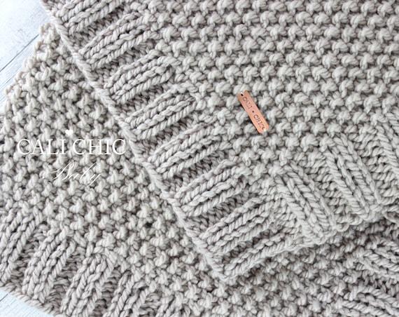Knitting Blanket Pattern Knit Baby Blanket Pattern Manchester Etsy