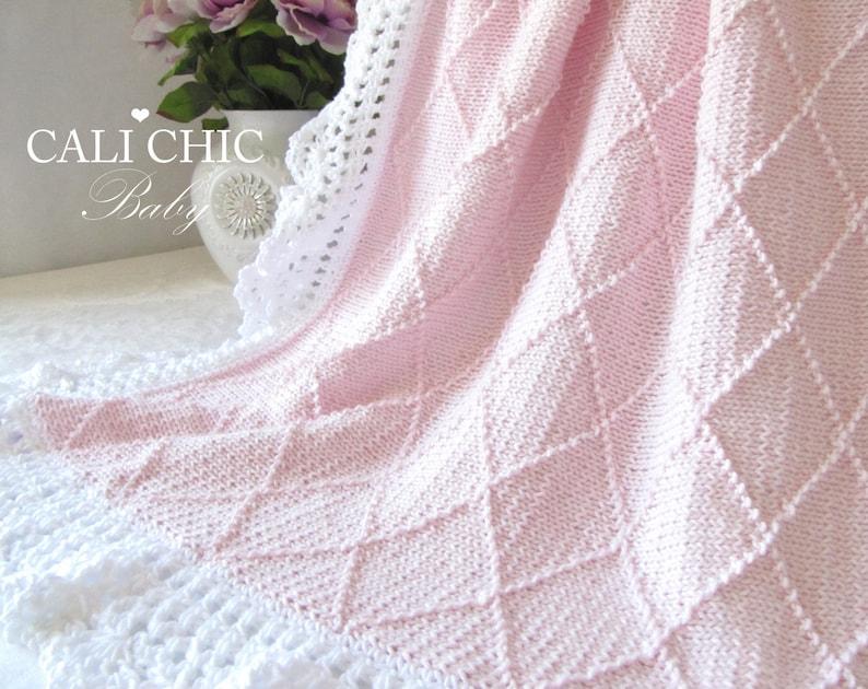 Knitting Pattern Baby Blanket Paris 63 Knit Baby Blanket Etsy