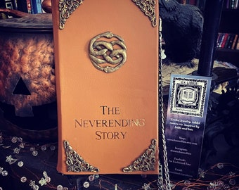 The Neverending Story Book Purse-Leather-Travel-Passport Holder-Ready to Ship