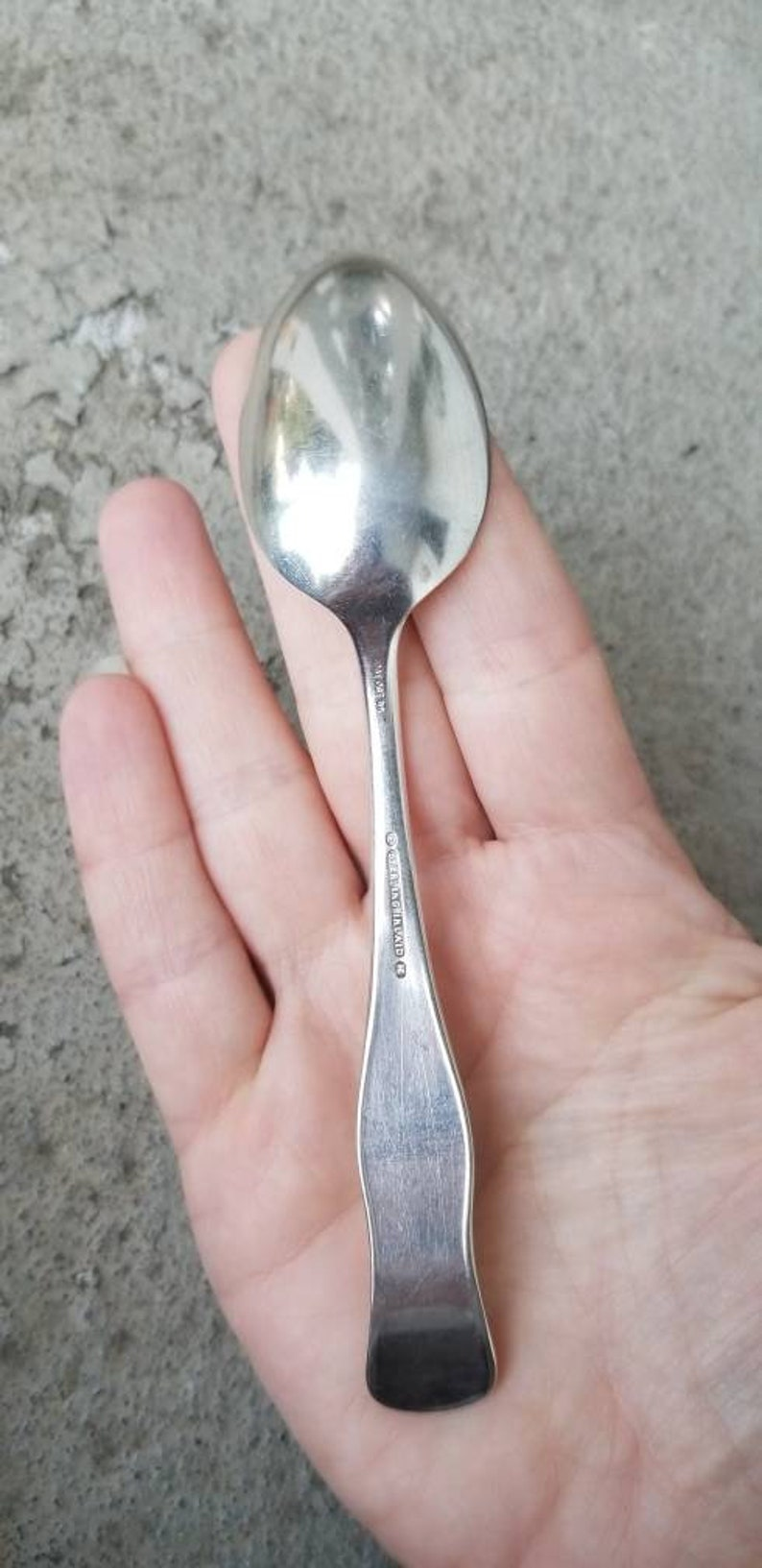 5 78 Inches 1888 Pat Oct Antique Teaspoon Warner by Holmes /& Edwards Silver Plated K Monogram.