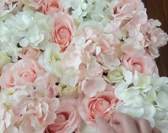 Pink wedding flowers etsy blush pink wedding flower wall baby shower backdrops artifical silk rose hydrangea background for romantic photography panels 4060cm mightylinksfo