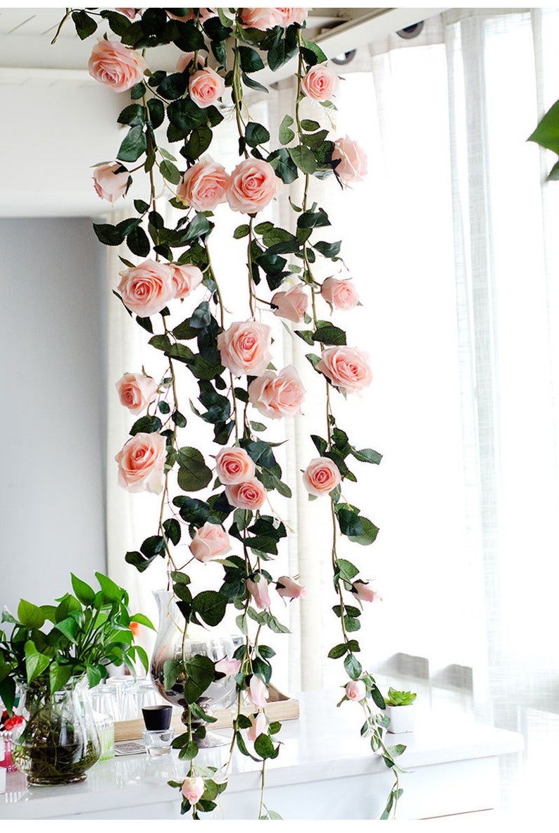 Single Silk Artificial Flower Roses Branch Fake Roses Wedding Simulation Flowers Decoration For Table Home Party Wall Background Artificial & Dried Flowers