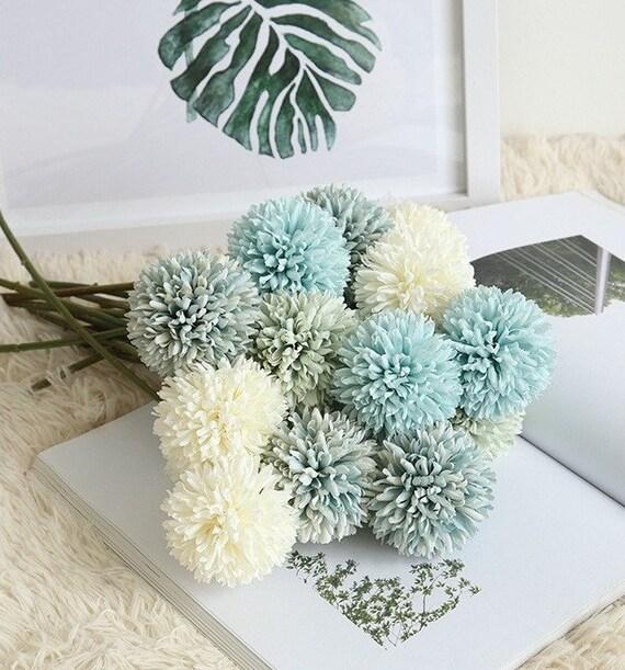 1 Set High Quality  Artificial Flowers Artifical Allium giganteum Orange