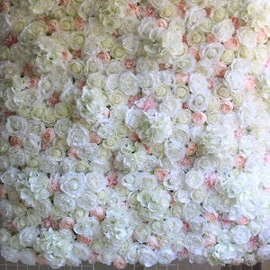 Polaris123-artificial-flowers Wedding Photo Background Bridal Bachelor Party Photography Backdrops Photon Flower Wall Fotografia,150x150cm,Creamy-White