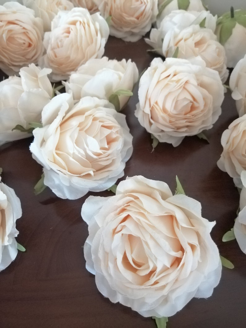 wholesale wedding flowers 30 heads diam.8cm artificial simulation silk rose  camellia flower heads wedding decoration diy flower