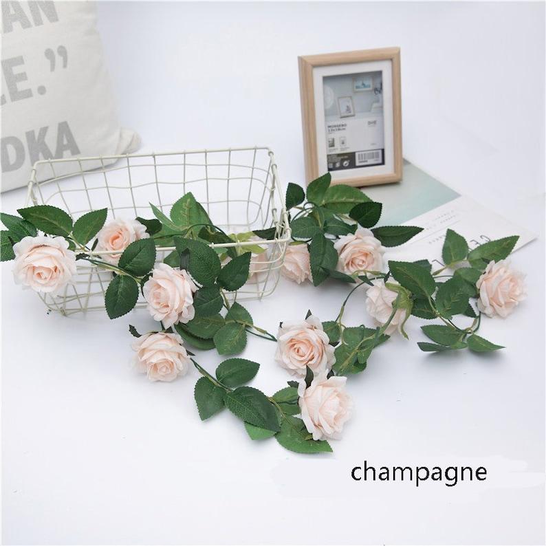 2.3m Artificial Flowers Fake Rose Ivy Vine Garland Wedding Party Decor DIY