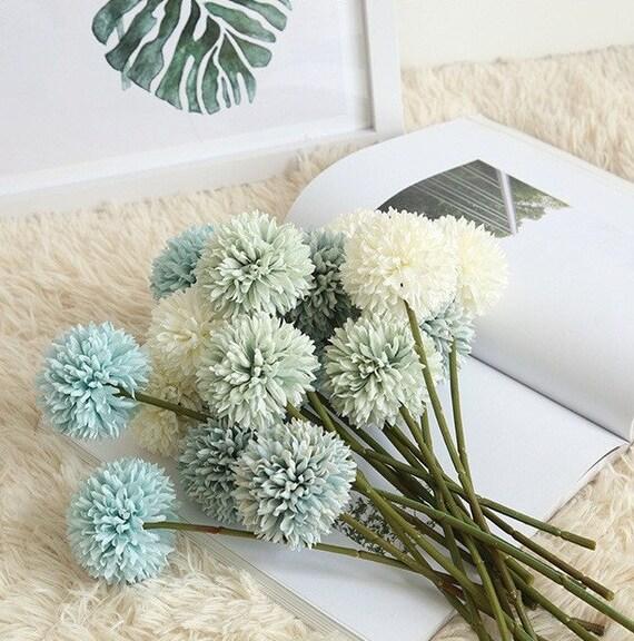 1 Set High Quality  Artificial Flowers Artifical Allium giganteum Dark Pink