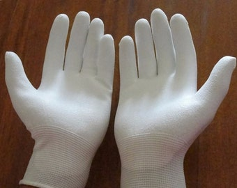 Special for Mamie:-) ***Quilter's Gloves 'PALM & FINGERTIP HIGH Grip'  For Quilting, Free Motion, Thread Painting, machine embroidery etc.