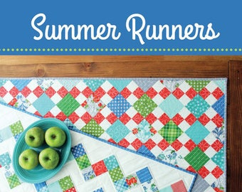 SUMMER RUNNERS Pattern #159 - Little Pattern by Cluck Cluck Sew - Use Leftover Charm Squares or Strips - 2 Different Patterns (W4359)