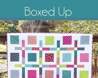 BOXED UP Quilt Pattern #175 by Cluck Cluck Sew - 4 Sizes - Fun and Fast Fat Quarter or Layer Cake Quilt Project (W4970)