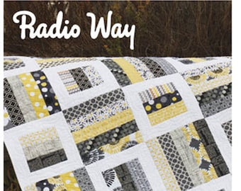 Radio Way Quilt Pattern by Jaybird Quilts - Super FUN Jelly Roll Pattern - 4 Sizes from Baby to King Sized (W3904)