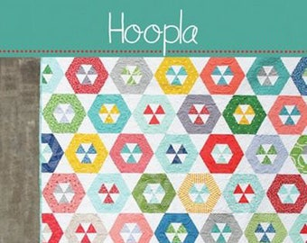HOOPLA Quilt Pattern #151 by Cluck Cluck Sew - Jelly Roll Friendly in 4 Sizes - For Advanced Beginners to Intermediate Quilters (W4351)