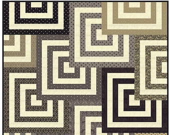 Mesmerize Quilt Pattern by Basic Grey - Super FUN Pattern - 3 Sizes from Throw to King Sized - BG PAT8115 (W3906)