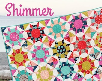 SHIMMER Quilt Pattern #161 by Cluck Cluck Sew - 5 Sizes - Surprisingly Easy Fat Quarter Quilt Project (W4957)