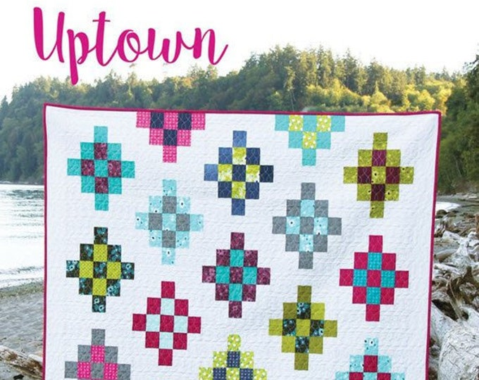 UPTOWN Quilt Pattern #163 by Cluck Cluck Sew - 4 Sizes - Beginner Friendly Jelly Roll Quilt Project (W4959)