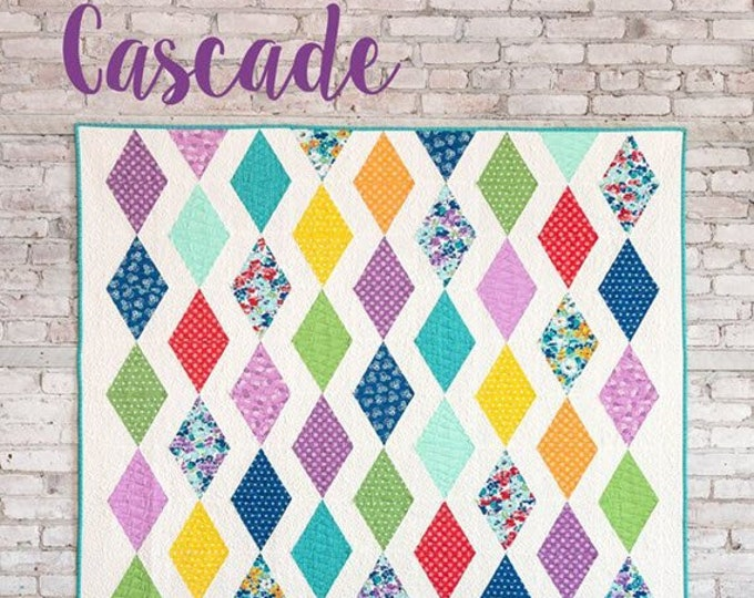 CASCADE Quilt Pattern #170 by Cluck Cluck Sew - 2 Sizes - Crib, Throw - Intermediate Skills Quilt Project - Requires Triangle Ruler (W4965)