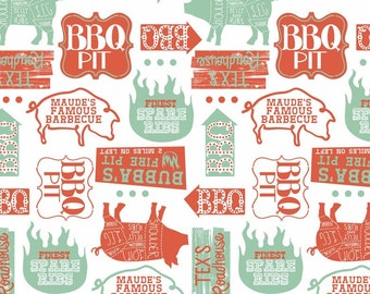 Half Yard Ribs & Bibs - Open Pit in White - Cotton Quilt Fabric - designed by Maude Asbury for Blend Fabrics (W1864)