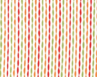 One Yard Bloomin' Fresh - Garden Stripes in Tulip Red - Cotton Quilt Fabric - designed by Deb Strain for Moda Fabrics - 19668-11 (W2770)