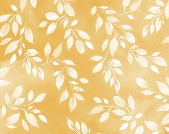 MIMOSA - Leaf Print in Sunshine Yellow - Leaves Cotton Quilt Fabric - Studio 8 for Quilting Treasures Fabrics - 24022-S (W4064)