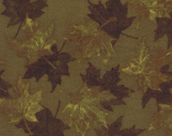North by Northwest - Autumn Leaves in Tobacco - Cotton Quilt Fabric - by Kanvas Studios for Benartex Fabrics - 5729-79 (W1632)