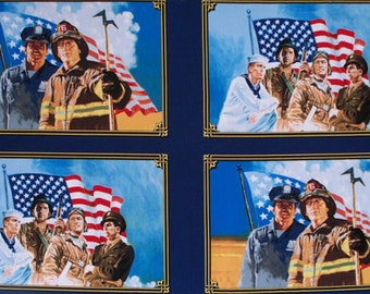 American Heroes Panel - Portraits Panel - Cotton Quilt Fabric - by Whistler Studios for Windham Fabrics (W1297)