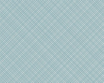 One Yard REMNANT Oh Clementine - Texture in Teal Blue - Cotton Quilt Fabric - by Cluck Cluck Sew for Windham Fabrics - 39289-6 (W2120)