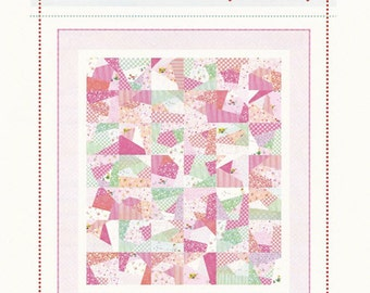 "Playful Quilt Pattern - Layer Cake Pattern Perfect for Beginners - by Aneela Hoey - 62"" x 70"" - AH 1209 (W1736)"