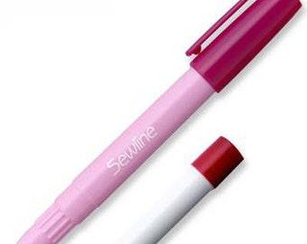 Sewline Fabric Glue Pen - Water Soluble, Blue Glue Dries Clear - PLUS 1 Refill Glue Tube (w1454)