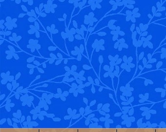 Fat Quarter Spin - Small Floral in Blue - Cotton Quilt Fabric - by Whistler Studios for Windham Fabrics (W1325)