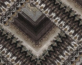 Fat Quarter North by Northwest - Blanket Stripe in Grey - Cotton Quilt Fabric - by Kanvas - Benartex (W1636)
