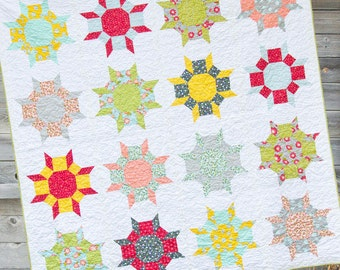 Wallflowers Quilt Pattern by Cluck Cluck Sew - Advanced Beginner Pattern in 3 Sizes by Allison Harris (W605)