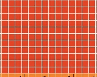 Fat Quarter Citrus - Small Check in Red - Cotton Quilt Fabric - by Another Point of View for Windham Fabrics - 37514-2 (W1104)