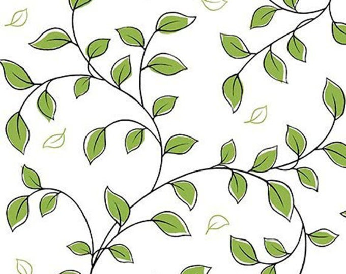 Not Your Garden Variety - Leaf Vine in Light Green - Cotton Quilt Fabric - by Cindy Sepp for Quilting Treasures Fabrics - 25769-H (W5245)