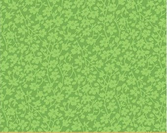 """QUILT BACKS 108 - Mono Floral in Green - 108"""" Wide Cotton Quilt Fabric - Wide Goods from Windham Fabrics - 42466-6 (W3975)"""