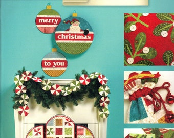 Jingle All The Way - Pattern Book by Art to Heart - Nancy Halvorsen Quilt Patterns - 15 Project Designs (W1048)