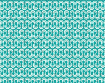 One Yard Drift - Blooming Algae in Emerald Green - Cotton Quilt Fabric - from Angela Walters for Art Gallery Fabrics (W1692)